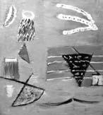 Берег. Птица над морем. 2001. 94x83 |х.м.|