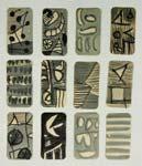 Страницы маленькой книги /серия объектов/. 1998-2006. 63х45 |бумага.тушь.белила|