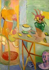 Интерьер с Венерой и фреской. 1998. 145х97 |х.м.|