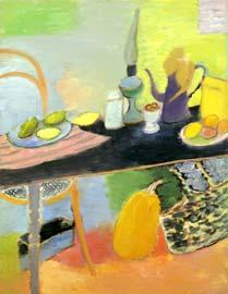 Лимоны на столе. 1998. 116х89 |х.м.|