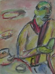 Портрет Ивери. 1996. 48,5х36 |бумага.акварель.уголь|