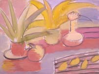Цветы и лимоны. 2000. 60х80 |х.м.|