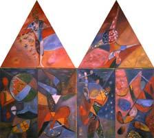 Цирк II. 1985-87. 130х140 |х.м.|