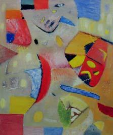 Красная композиция. 1989. 180x150 |х.м.|