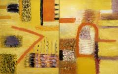 Поле /диптих/. 1991. 145x228 |х.м.|